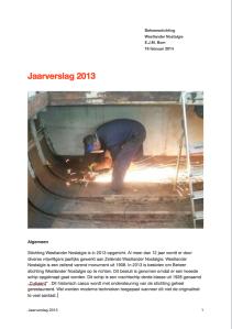Voorblad jaarverslag 2013